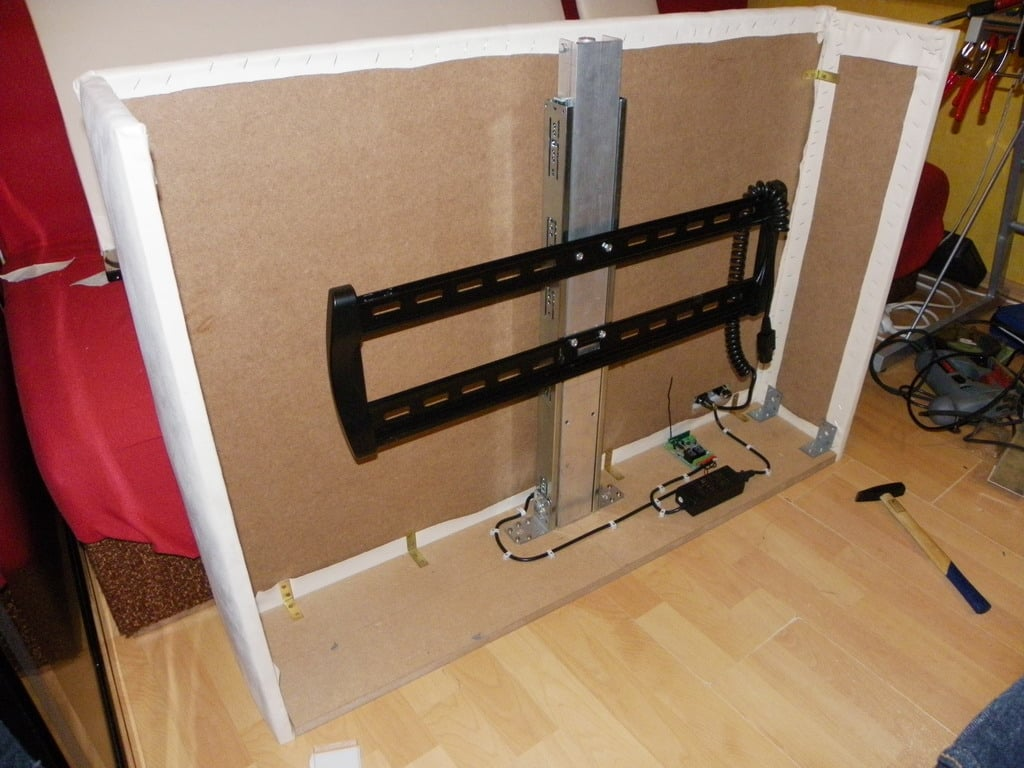 diy motorized tv lift cabinet cabinets matttroy