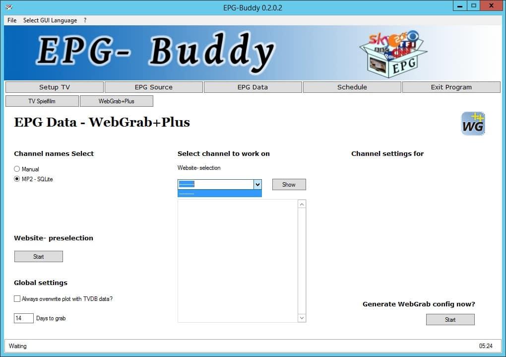 Downloading The epg