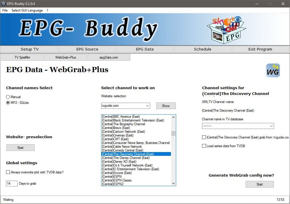 EPG-Buddy a new EPG Tool with easy usage  | MediaPortal